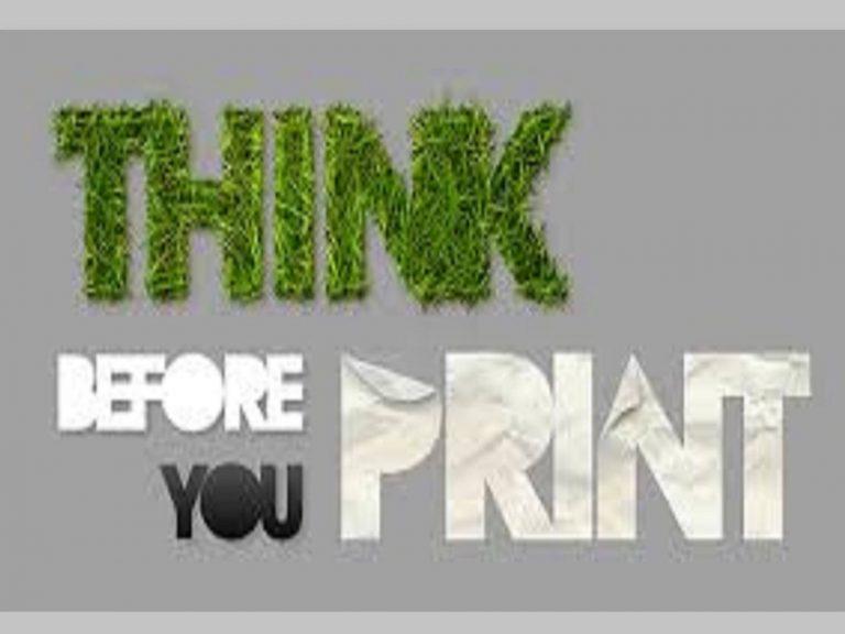 Zo min mogelijk printen