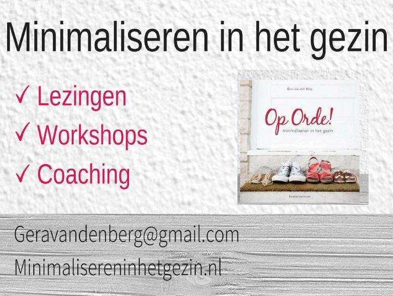 NIEUW : Advies van Op Orde! per e-mail of telefoon