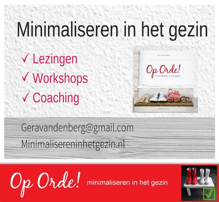 WORKSHOP minimaliseren: hoe begin je?