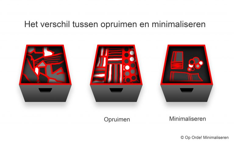 Opruimen of minimaliseren?