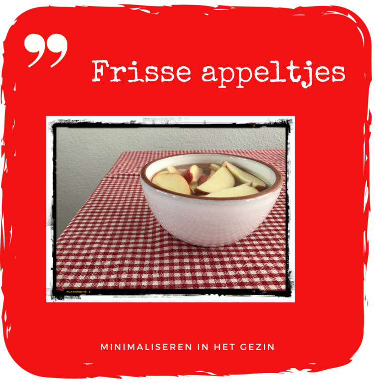 Frisse appeltjes…