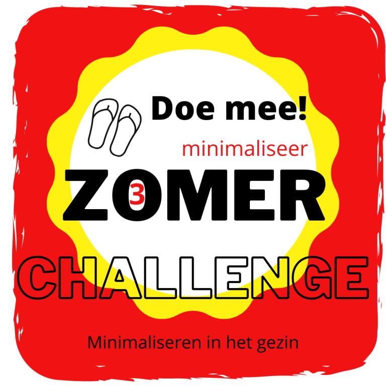 Minimaliseer Zomer Challenge 3