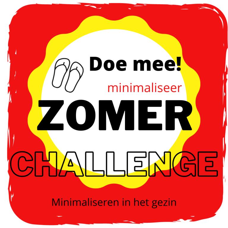 Minimaliseer Zomer Challenge