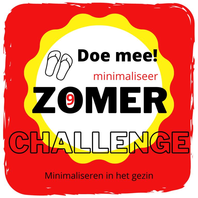Minimaliseer Zomer Challenge 9