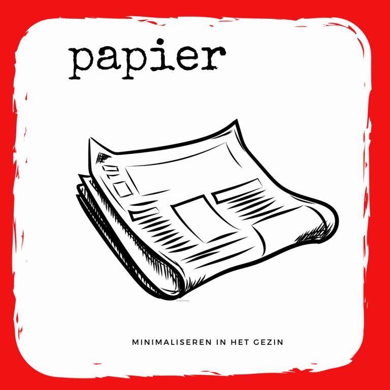 Minder papierverspilling