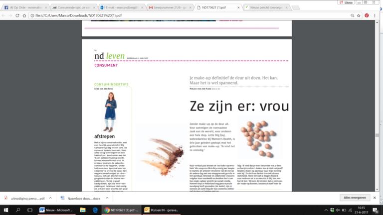 Tips in het Nederlands Dagblad